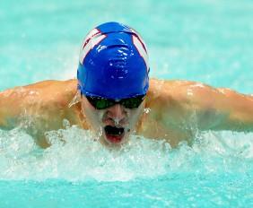 jake swimming like a boss